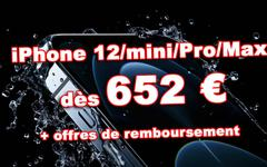 ???? Promos : iPhone 12 mini à 652€ et iPhone 12/Pro/Max dès 754€